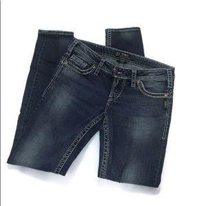 Silver Camden Rose medium wash skinny jeans